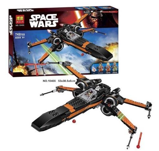 Конструктор Bela 10466 Звездные войны Истребитель По (аналог Lego Star Wars 75102)