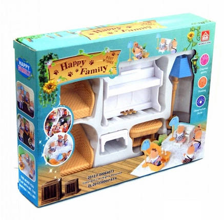 Набор мебели для флоксовых животных Happy Family 012-08B (аналог Sylvanian Families), фото 2