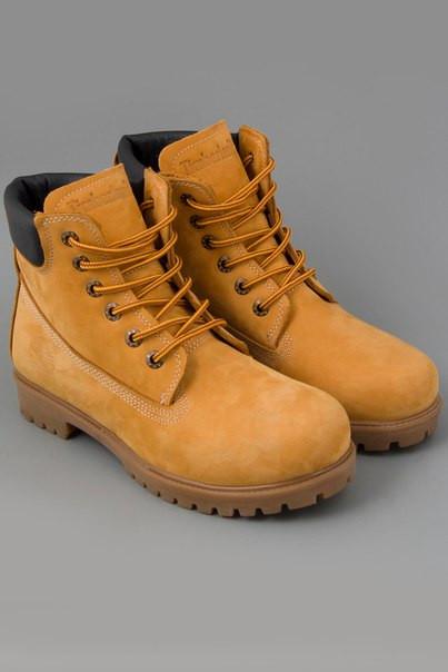 Мужские зимние Ботинки Timberland Classics желтые