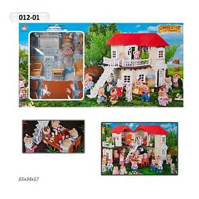 Домик  Happy Family 012-01 Животные флоксовые (аналог Sylvanian Families)