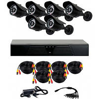 Комплект AHD видеонаблюдения на 6 уличных камер CoVi Security AHD-6W KIT // AHD-6W KIT