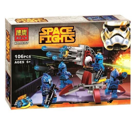 Конструктор Bela серия Space Fights 10367 Солдаты - коммандос Сената (аналог Lego Star Wars 75088)