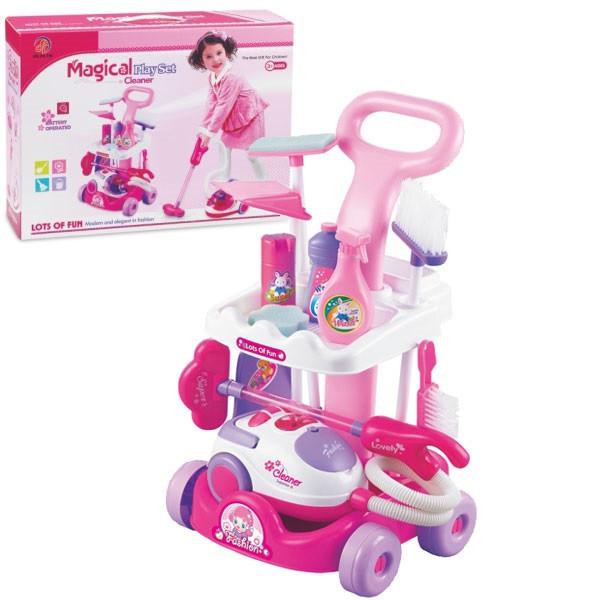 Игровой набор для уборки 5951 с пылесосом на колесах