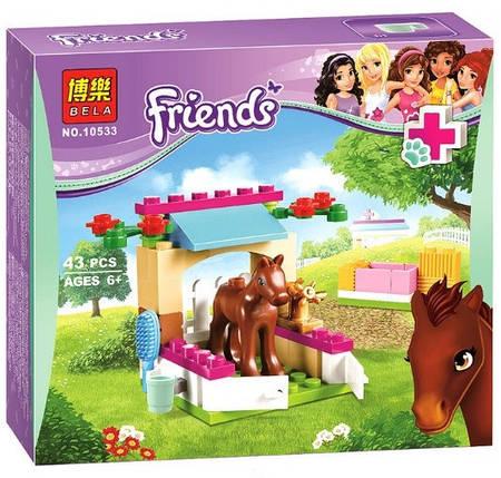 Конструктор Bela серия Friends / Подружки 10533 Уход за жеребёнком (аналог Lego Friends 41089), фото 2