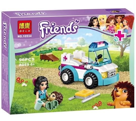Конструктор Bela серия Friends / Подружки 10534 Ветеринарная скорая помощь (аналог Lego Friends 41086)