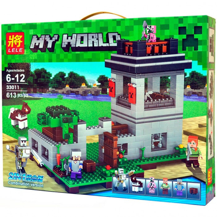 Конструктор Lele серия My World 33011 Крепость с Големом (аналог Lego Майнкрафт, Minecraft)