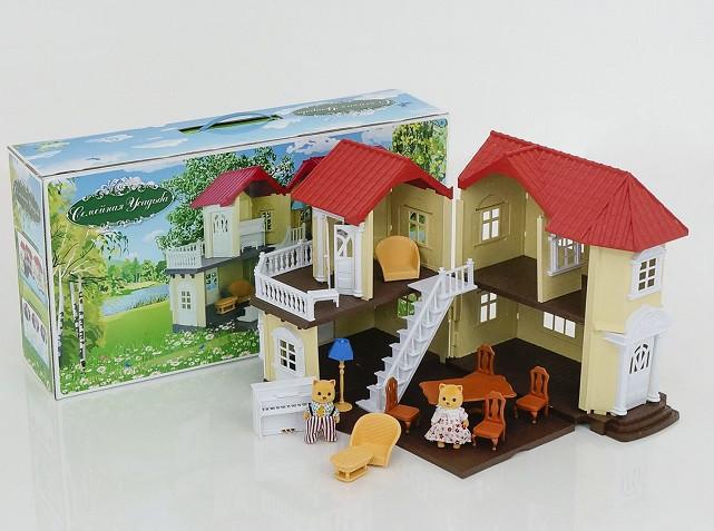 Игровой домик с флоксовыми животными 0560 Семейная усадьба (аналог Sylvanian Families)