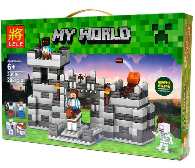 Конструктор Lele серия My World 33006 Неприступная крепость (аналог Lego Майнкрафт, Minecraft)