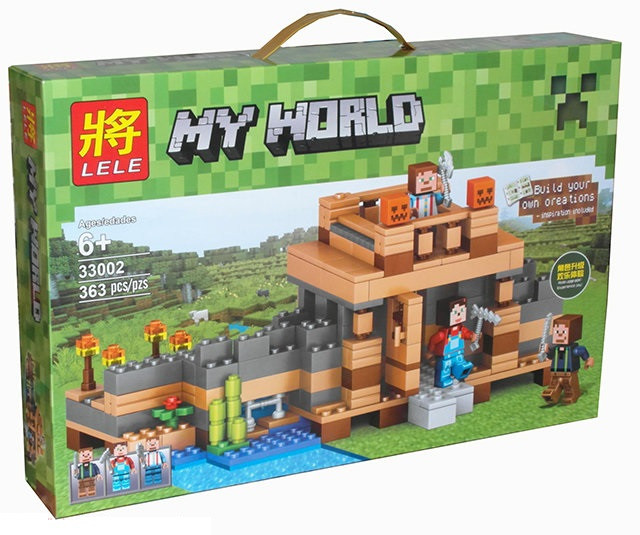 Конструктор Lele серия My World 33002 Нерушимое жилище (аналог Lego Майнкрафт, Minecraft)