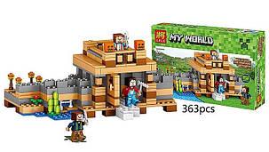 Конструктор Lele серия My World 33002 Нерушимое жилище (аналог Lego Майнкрафт, Minecraft), фото 2