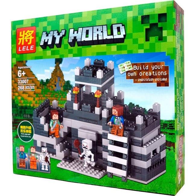 Конструктор Lele серия My World 33007 Мини-крепость (аналог Lego Майнкрафт, Minecraft)