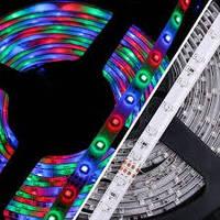 Цветная светодиодная лента 3528, полный комплект