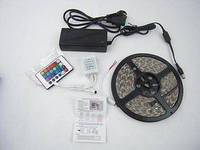 Светодиодная лента rgb smd 5050 14 4w m, комплект ( лента, контроллер, пульт, блок питания)
