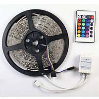 Светодиодный комплект лента RGB 5050 300шт/5м IP65 + контроллер 24кнопки + блок питания