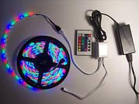 Светодиодная LED лента 5050 RGB 12V цветная, разноцветная