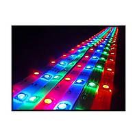 Гибкая светодиодная лента 12v 5050 5 метров, комплект(лента, блок питания, контроллер, пульт)