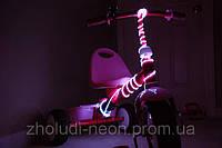 Подсветка колес велосипеда оптическим проводом I-покл.  (ато, мото, вело).