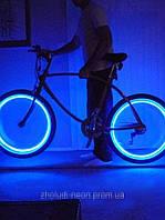 Подсветка на колес неоновым проводом (ато, мото, вело).