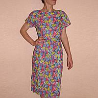 Летнее платье Тропикана для дома, р 44-46 хлопок