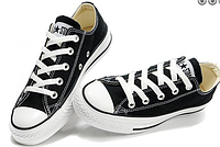 Женские кеды Converse Chuck Taylor All Star Low (black/white) - 17W