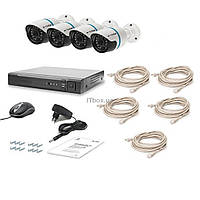 Комплект видеонаблюдения Tecsar IP 4OUT (7359)