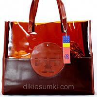 Женская сумка Tory Burch коричневая, фото 1