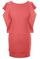 Платье № 3150S желтое и розовое