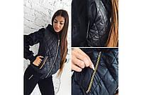 Женская Куртка женская с меховыми рукавами  весна/осень