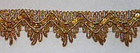 Тасьма декоративна люрекс золото 6107, фото 1