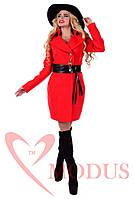 Женское красное пальто осень весна  Магия Осень 44-48 размеры