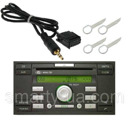 Aux  шнур для штатных магнитол Ford 6000CD 12pin AUX Ford 3,5 мм разъем для подключения MP3
