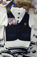 Детский свитер- жилетка 2 в 1  для мальчика Турция
