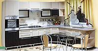 Кухня Марта МДФ фасад Венге-светлый/Венге-тёмный, корпус Венге-светлый. Кухня 2,6 метров