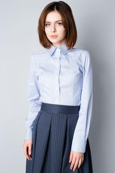 Рубашка классическая женская в полоску Р73