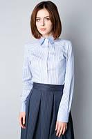 Рубашка классическая женская в полоску Р73, фото 1