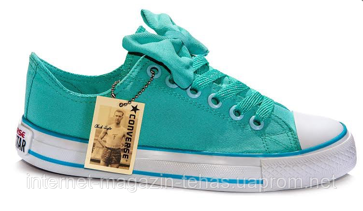 Женские кеды Converse Chuck Taylor All Star Low (light blue) - 49W -  Интернет 4971c97dc063e