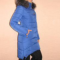 Женская удлиненная куртка на синтепоне р.44