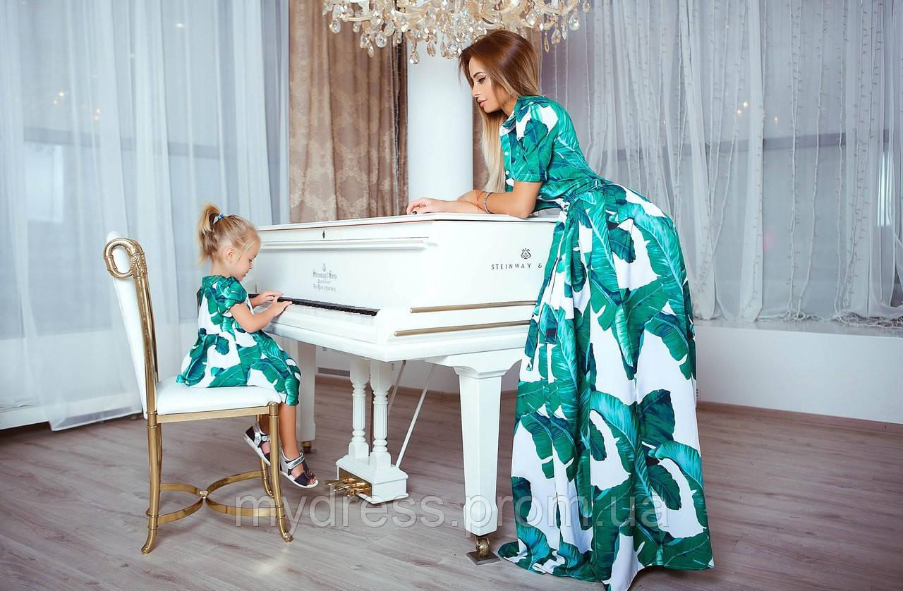 Family Look парные платья Green