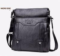 Кожаная мужская сумка-барсетка Polo Vicuna Есть 3 цвета! Черный