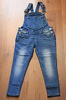 Стильный джинсовый комбинезон для девочек от производителя F&D, Венгрия. Р-ры: 8-16