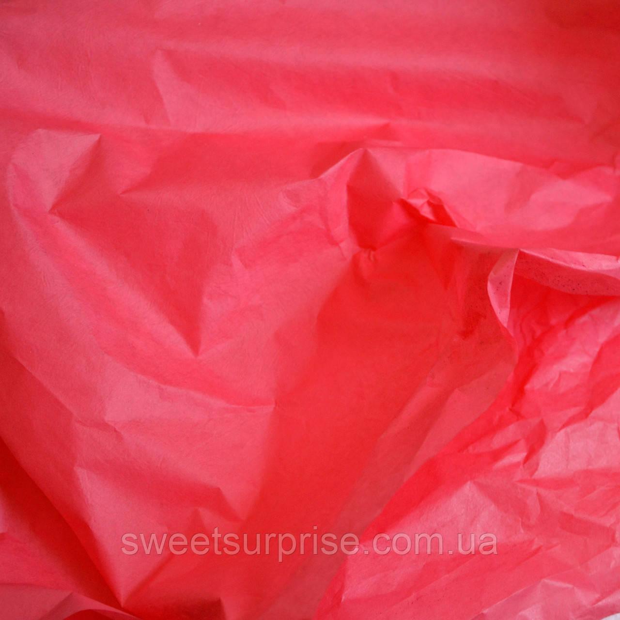 Бумага тишью (светло-красный)