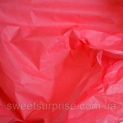Бумага тишью (светло-красный), фото 2