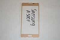 Стекло дисплея (экрана) для Samsung Galaxy A5 A500   A500F   A500H   A5000 (золотой цвет)
