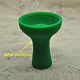 Силиконовая чаша для кальяна Самсарис 7 отверстий  цвет зеленый, фото 2