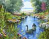Картини по номерах 40×50 см. Черные лебеди Художник Андрес Орпинас
