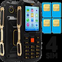 Противоударный телефон Land Rover M11, 4 SIM-карты, батарея 2000 мАч, мощный фонарь, очень громкий динамик