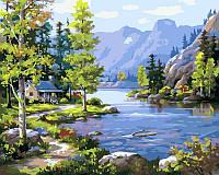 Картини по номерах 40×50 см. Домик у ручья Художник Сунг Ким , фото 1