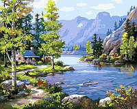 Картини по номерах 40×50 см. Домик у ручья Художник Сунг Ким