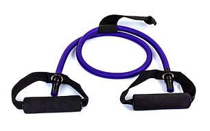 Эспандер для фитнеса трубчатый 50LB фиолетовый FI-2659-V , фото 2