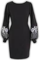 Платье № 1647 черная полоса+желтый